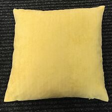"New Season Quality Yellow Soft Chenille Cushion Cover 17"" X 17"""