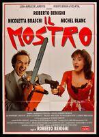 M218 Manifesto 2F El Monstruo Roberto Benigni-Braschi Michel Blanc