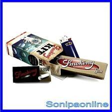 10 KIT SMOKING FILTRI + CARTINA SMOKING ORO LUNGA + ACCENDINO BIC