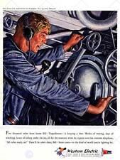 Publicité western electric torpille sous-marin guerre art print poster ABB6333B