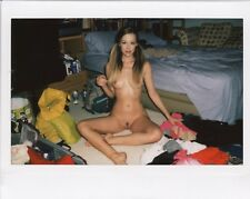 OOAK Original Instax Wide Polaroid Photo - Nude Naked Woman Blonde Glamour