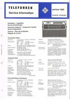 Telefunken Kofferradio  Partner 400 Schaltplan Original  6 Seiten