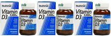(3 PACK) - HealthAid - Vitamin D3 5000iu   30 Vegicaps   3 PACK BUNDLE