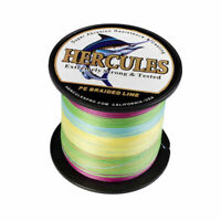 Hercules Multi-Color 100-2000m 10-300lb 4 8 Strands Braided Fishing Line Extreme