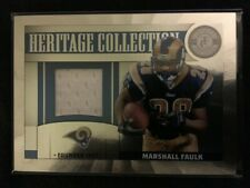 2011 TOTALLY CERTIFIED HERITAGE COLLECTION MARSHALL FAULK GAME USED 150/299