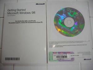 MICROSOFT WINDOWS 98 SE SECOND EDITION FULL ENGLISH VERSION MS WIN 98SE =NEW=