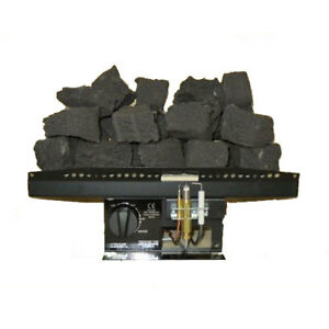 """16"""" New Living Flame Gas Fire T3 Tapered Inset-Fire Tray Coal Or Logs"""