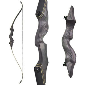 """60"""" Archery Recurve Bow 25-65lbs Takedown Wood Right Left Hand Hunting Target"""