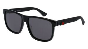 NEW Gucci Urban GG 0010S Sunglasses 001 Black 100% AUTHENTIC