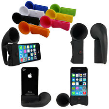 Portable Amplifier Speaker Silicone Horn Stand Holder Case for iPhone 4S / 4