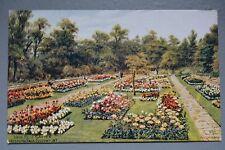 R&L Postcard: J Salmon, AR Quinton, New Rose Garden Hesketh Park Southport
