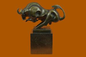 Bronze Sculpture Modern Art Bull Bookend Book End Hot Cast Artwork Figurine Gift