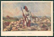 Militari Coloniali Africa Ascari Del Sordo FG cartolina XF3004