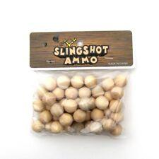 Bag of wooden pellets Slingshot Ammunition Rounds 40 wood sling shot ammo balls