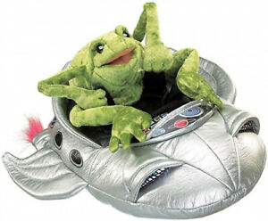 Folkmanis Puppets – 2837 – Puppet Theatre – Frog in Spaceship. Brand New