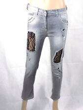 Relish Jeans Womens Jeans Pants Size S Gray Black Dentelle New Denim Ripped NWT