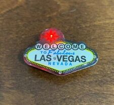 Las Vegas Welcome Sign Lighted Lapel Collector Pin Hat Jacket Led Lights New