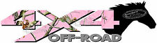 4x4 Off Road PINK CAMO Dark Horse Head Camouflage TRUCK Decal/Sticker CHEVY FORD