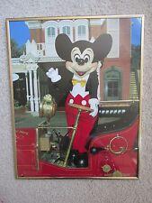 Vintage Disney Mickey Mouse Disneyland Entrée Image Encadrée / Art Photo