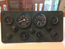 Military Jeep Truck Stewart Warner Instrument Gauge Panel Rat Rod