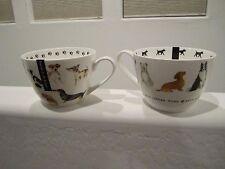 Paw Prints DACHSHUND Dog Mugs - Set of 2 - Pug - Beagle NEW