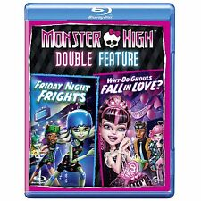 MONSTER HIGH - FRIDAY NIGHT FRIGHTS / WHY DO GHOULS FALL LOVE - BLU RAY / NEW