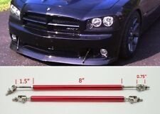 "Red 8"" Adjustable Rod Support for Ford Bumper Lip Diffuser Spoiler splitter"