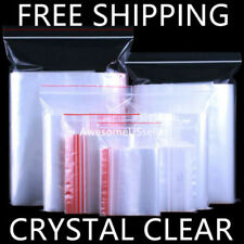 100 Bags Crystal Clear 1mi Reclosable Resealable Office Zipper Plastic Poly Bag