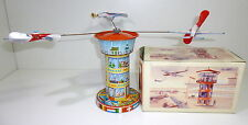 Antique Tin Toy # 1960's Schopper Clockwork Airport/Airplane Boxed !!