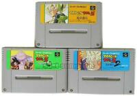 SUPER FAMICOM DRAGON BALL Z SUPER BUTODEN 1 2 3 SET SNES SFC JAPAN