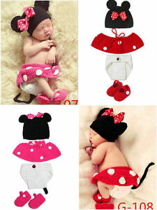 Newborn baby boys gir Crochet Knit Clothes Photo Photography Prop Costume Outfit