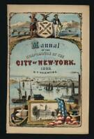 Frontispiece City of New York prospect view lower Manhattan 1862 miniature print