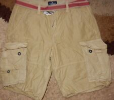 NWT Mens AMERICAN EAGLE  Khaki  Cargo Shorts w//belt