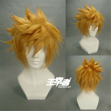 Kingdom Hearts Ventus Roxas Short Golden Yellow Cosplay Hair Wig + Wig Cap