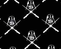STAR WARS  COTTON FABRIC DARTH VADER GLOW THE DARK QUILTING CAMELOT BY THE YARD