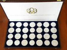 CANADA - 1976 OLYMPIC SILVER COIN SET - 28 COIN SET - SILVER $5 & $10 COINS