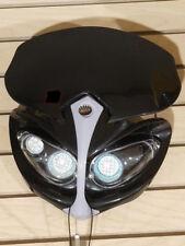 12V Universal Front Light Fairing for Motorcycle Dirt Bike Headlight BLACK-G
