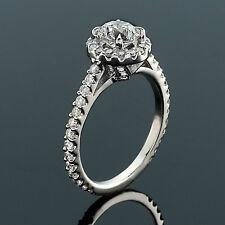 2.75CT H/VS2 ROUND CUT DIAMOND HALO ENGAGEMENT RING 14K MATCHING BAND ENHANCED