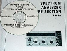 HP 8555A OPERATING &  SERVICE MANUAL  (oem copy)