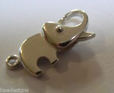 Kaedesigns, Genuine Sterling Silver Plain Elephant parrot / lobster clasp Clasp