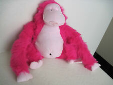 "14"" FUNNY MONKEY MAKE NOISE Pink Plush Stuffed Animal"