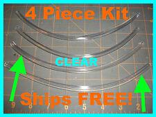 PROTECTORs MOLDING (4 piece kit) 8'' CLEAR car DOOR EDGE GUARDS fits: (Toyota)