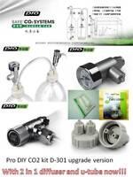 Pro DIY CO2 kit system with pressure guage needle check valve planted aquarium