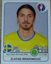 567 Zlatan Ibrahimovic Suède PANINI EURO 2016 France Autocollant