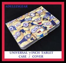 KIDS OR CHILDRENS UNIVERSAL 7 INCH TABLET COVER CASE MINIONS CROWD YELLOW