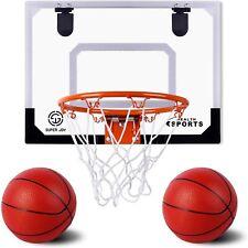 "Aokesi Pro Indoor Mini Basketball Hoop Set for Kids - 16.5"" x 12.5"" Basketball H"