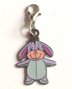 Disney Eeyore Charm Winnie the Pooh Purse Tag Zipper Pull Bracelet Clip On