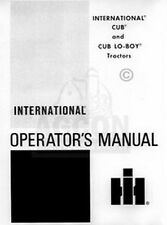 International Cub Cadet Lo-Boy Owner Operator Manual Ih