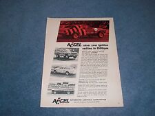 """1971 Accel Products Vintage Drag Racing Ad """"Raises Your Ignition Redline to 8500"""