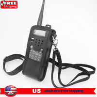 Extended Leather Soft Walkie Talkie Case Bag For Baofeng UV-5R 3800mAh Portable